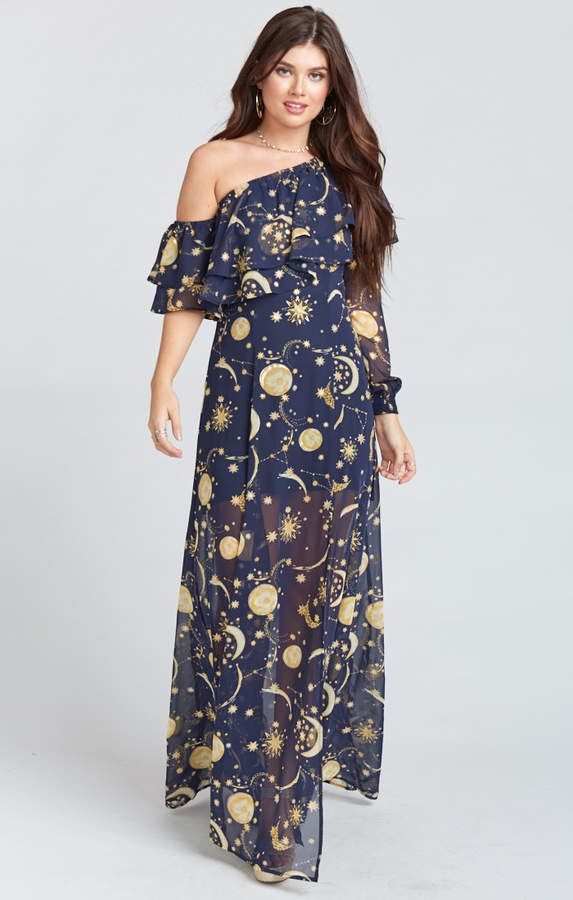 2d741a3ab44e Show Me Your Mumu Emma Ruffle Maxi Dress ~ City of Stars