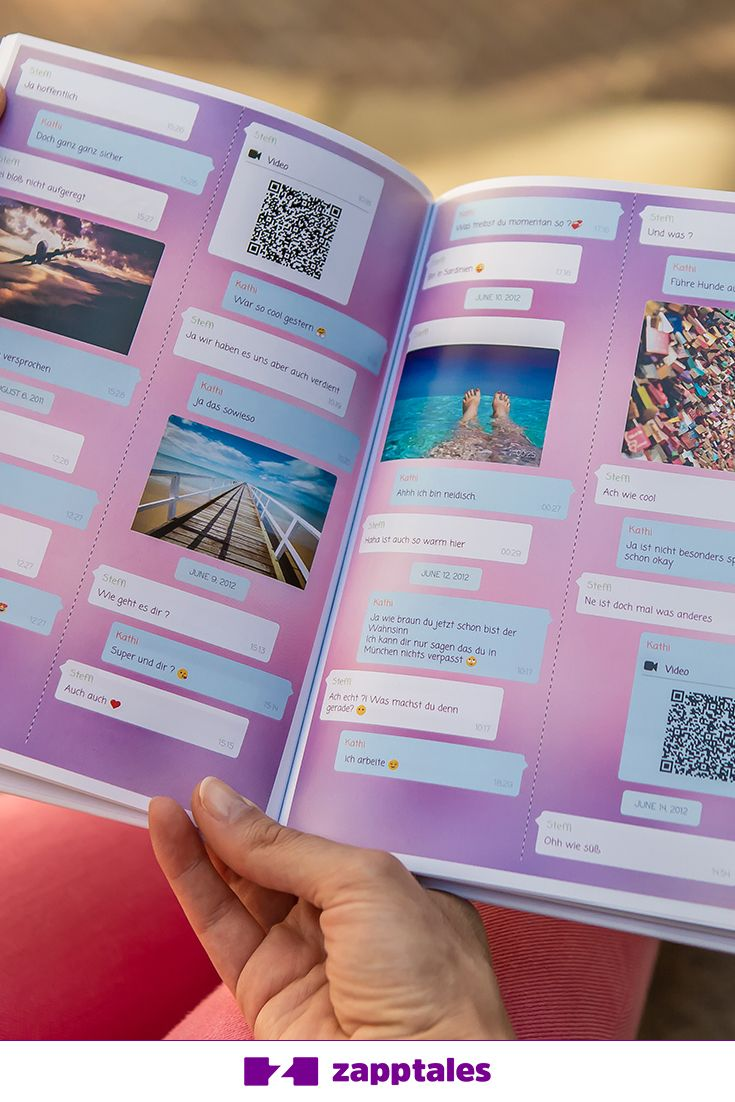 Print Your Facebook Messenger Chat As A Beautiful Book With Zapptales Birthday Gifts For Best Friend Friend Birthday Gifts Boyfriend Gifts