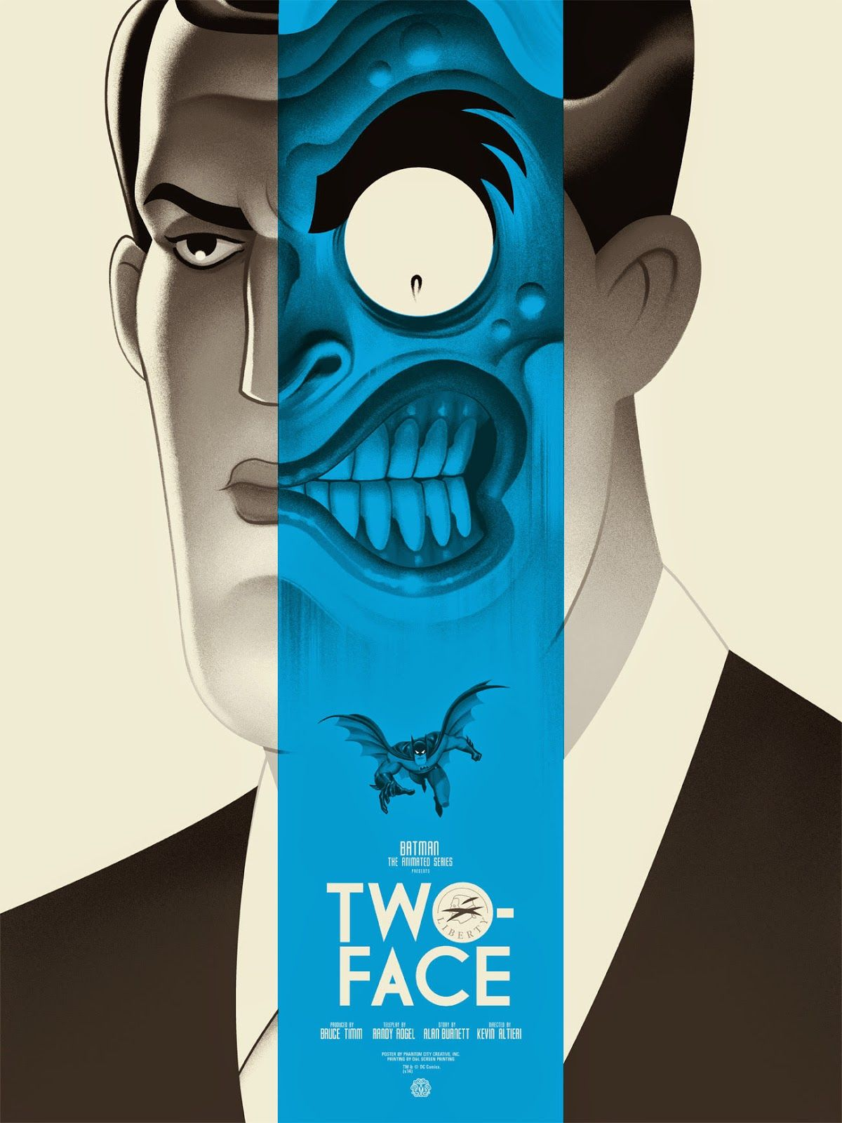 Two-Face-Batman-Animated-Series-Phantom-City-Creative-Poster-Mondo-Blue-Variant