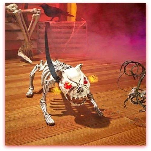animated halloween props dog barking skeleton dog with light up red rh pinterest com au