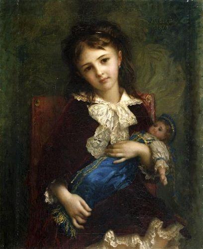 Hébert Ernest Antoine Auguste (1817-1908), Catherine du Bouchage enfant
