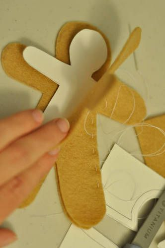 gingerbread felt ornaments | We Know How To Do It