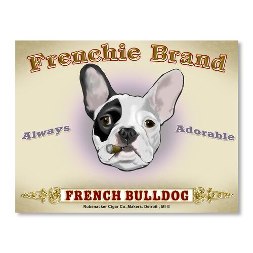 French Bulldog Cigar Vintage Advertisement On Wrapped Canvas