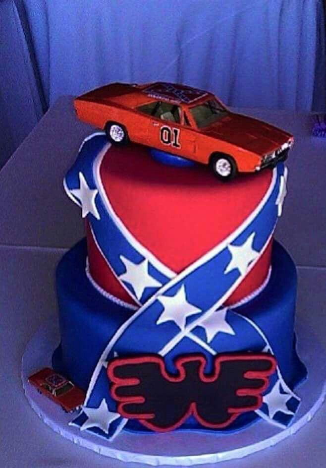 Waylon Jennings General Lee Cake