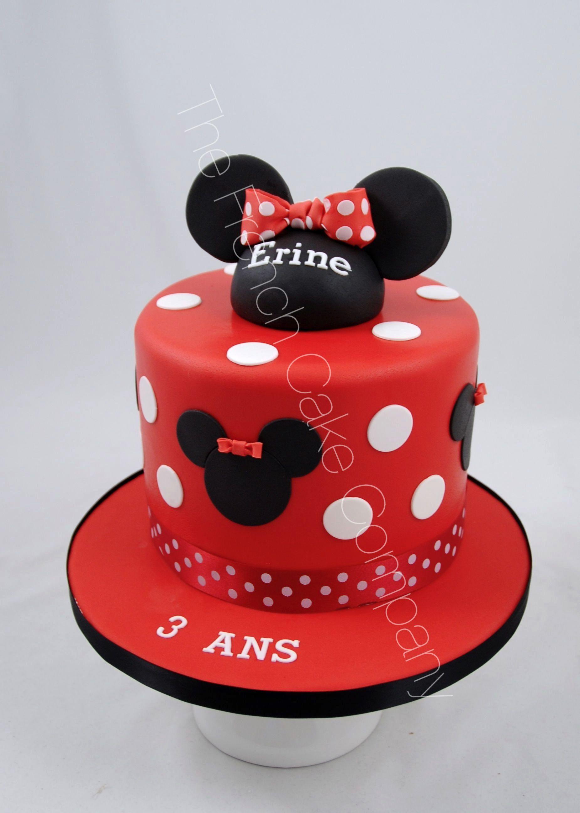 Gateau D Anniversaire Minnie.Gateau D Anniversaire Minnie En Rouge Cake Design Belgique