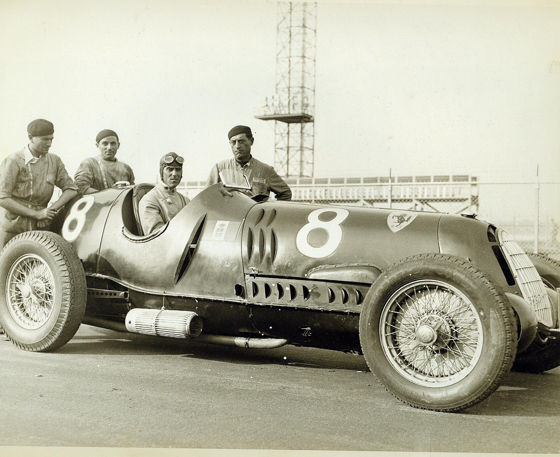 """Vanderbilt Cup Races Tazio Nuvolari Alfa Romeo Ferrari """"The"""