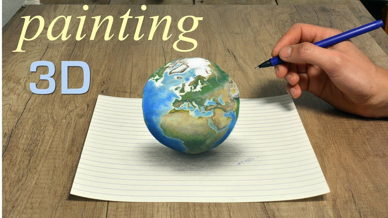 Planet Earth amazing 3D painting by Stefan Pabst DIY in 2019