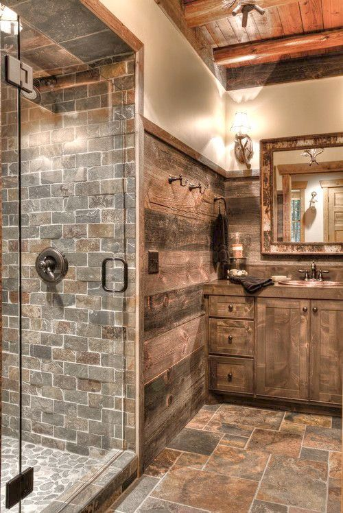 Check It Out Country Bathrooms Pinterest Rustic Bathrooms Rustic Bathroom Rustic Bathroom Decor