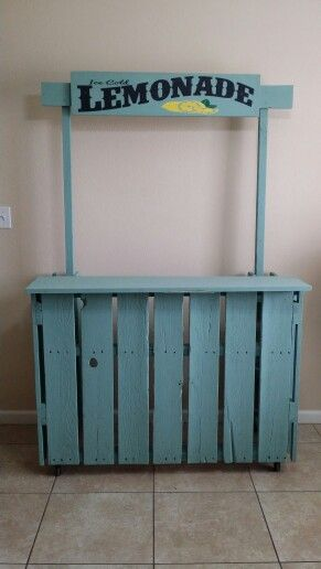 Diy lemonade stand 6 feet tall by 4 feet wide and 2 feet wide#pallets#cheap# boys lemonade stand