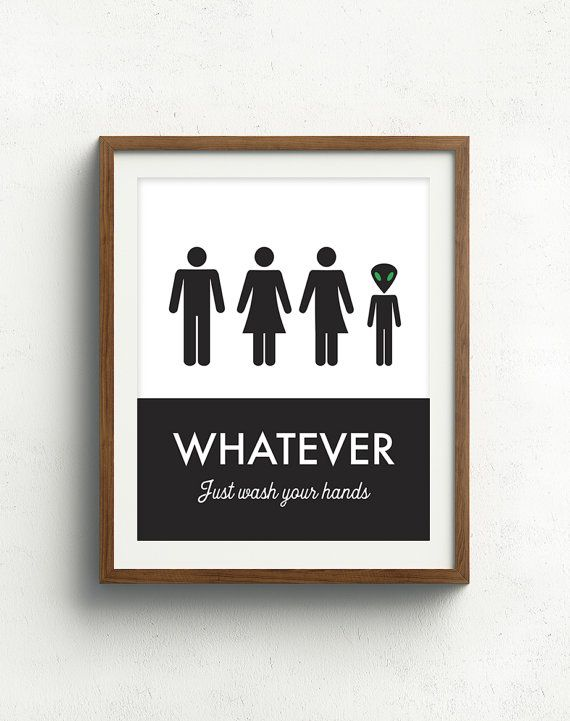 Unisex Bathroom Sign Funny Bathroom Print Unisex Bathroom Family
