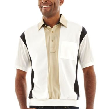 Palmland short sleeve colorblock banded bottom polo shirt for Jcpenney ladies polo shirts