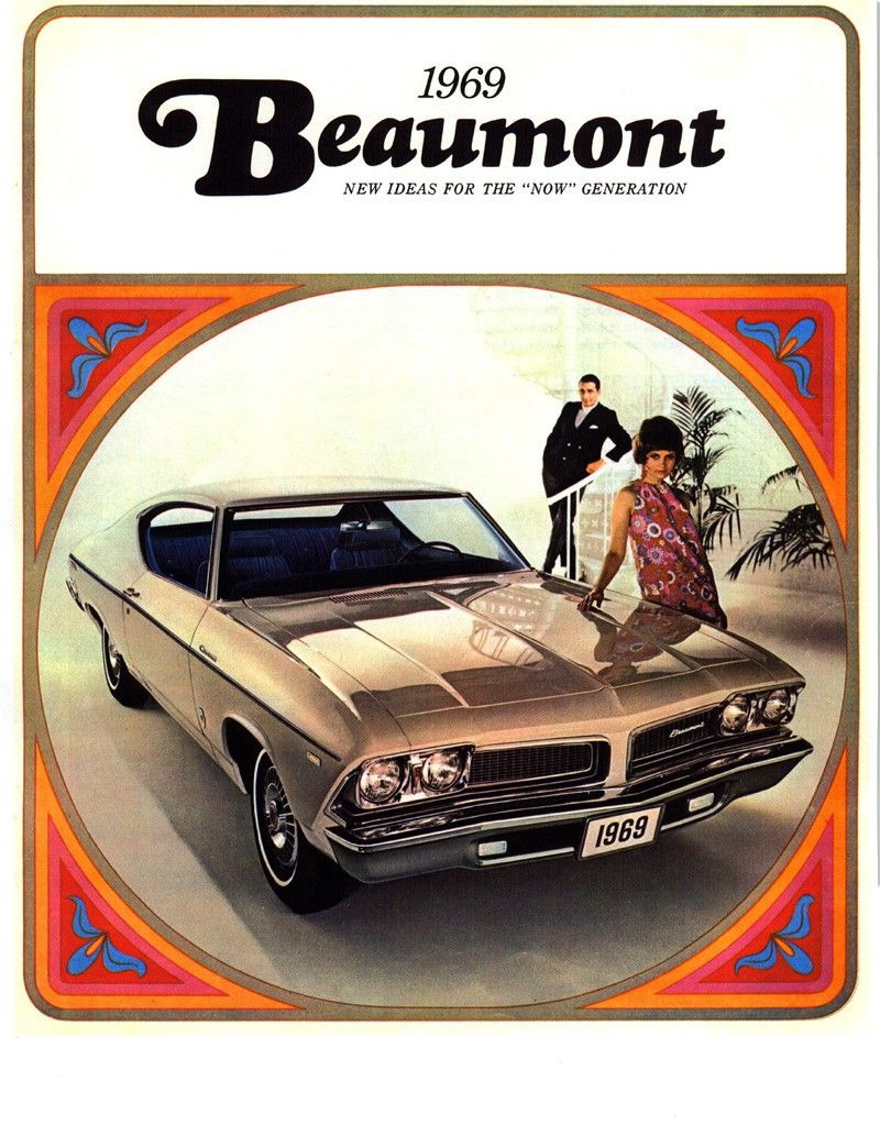 1969 Beaumont Literature, Canadian Chevelle.