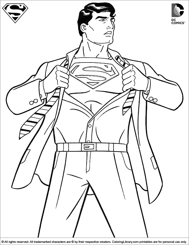 simon Superman coloring page  Bger  Pinterest  Coloring