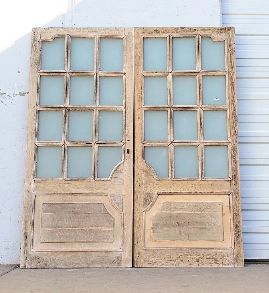 Pair Of Wooden 12 Pane Large French Doors In 2020 French Doors Bifold French Doors Oak Exterior Doors