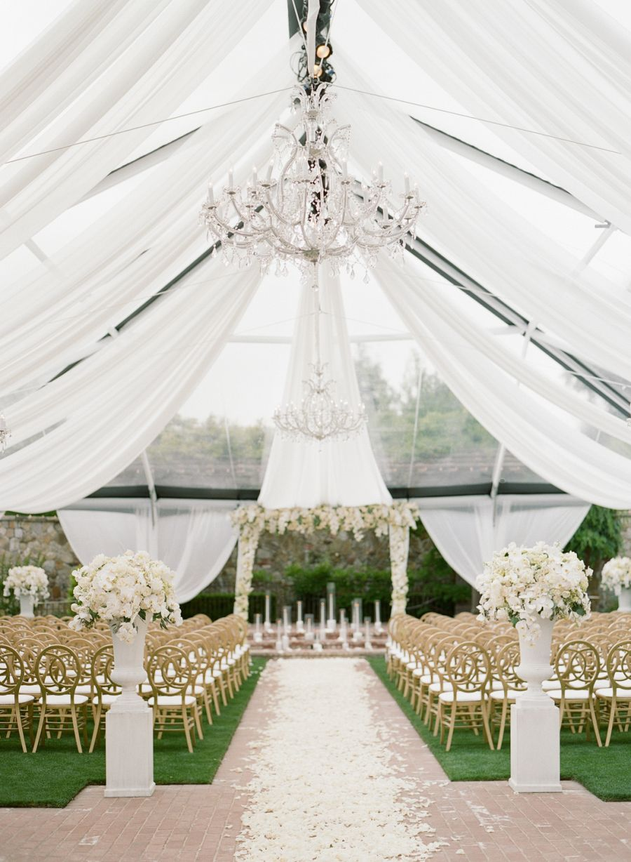 All-White Vineyard Wedding With a Touch of Glam | Wedding ...