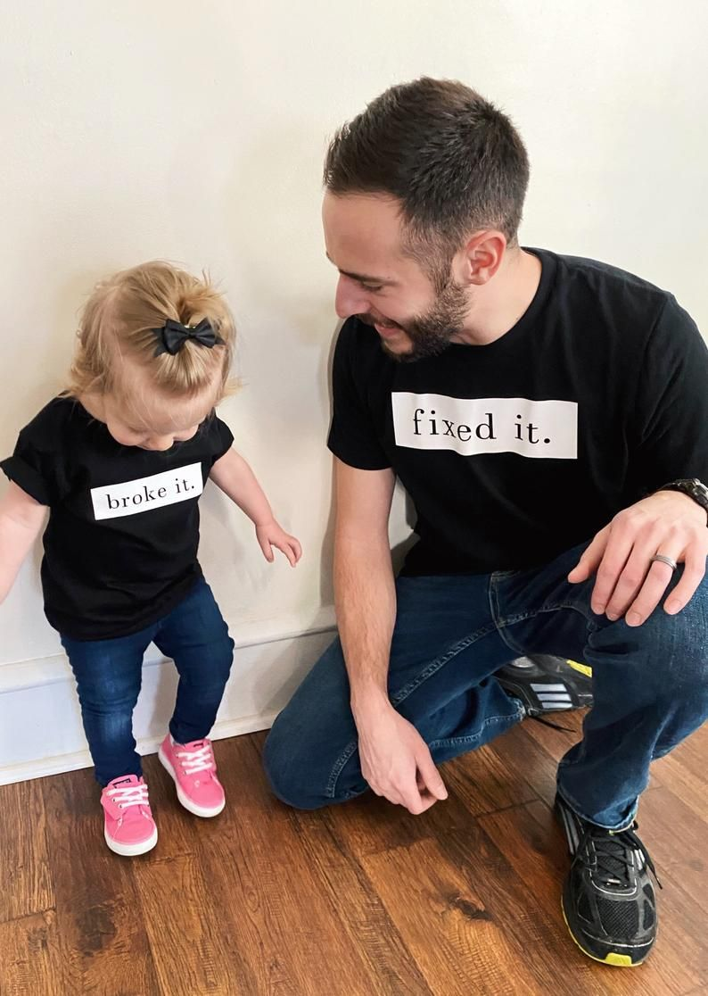 Daddy And Daughter Shirts Daddy And Son Shirts Etsy In 2020 Daddy And Son Daughters Shirt Dad Daughter