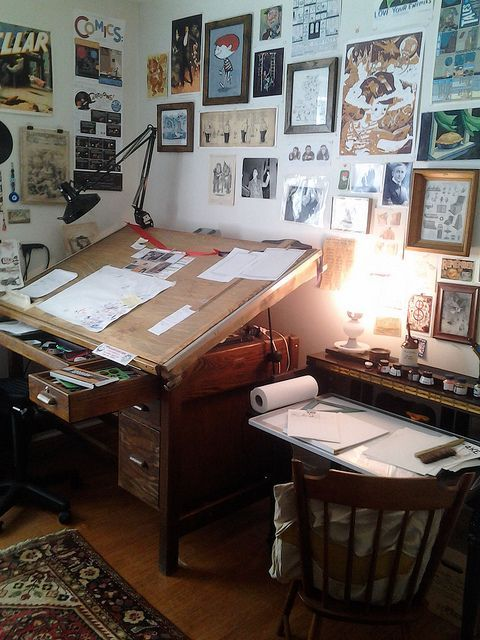 a desk for every occasion is part of Art studio at home - a desk for every occasion! artStudio Room