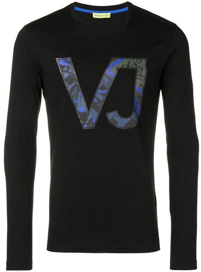 c442889be Versace VJ print T-shirt