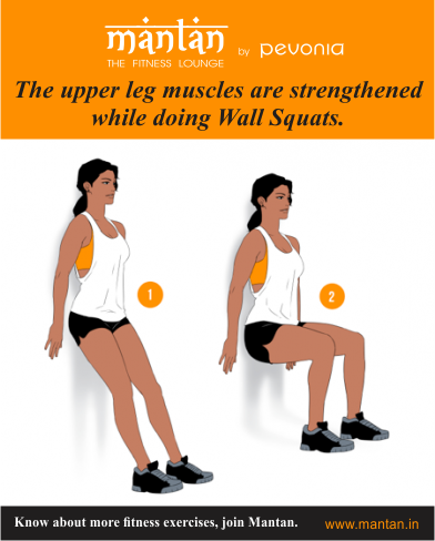 the upper leg muscles are strengthened while doing wall