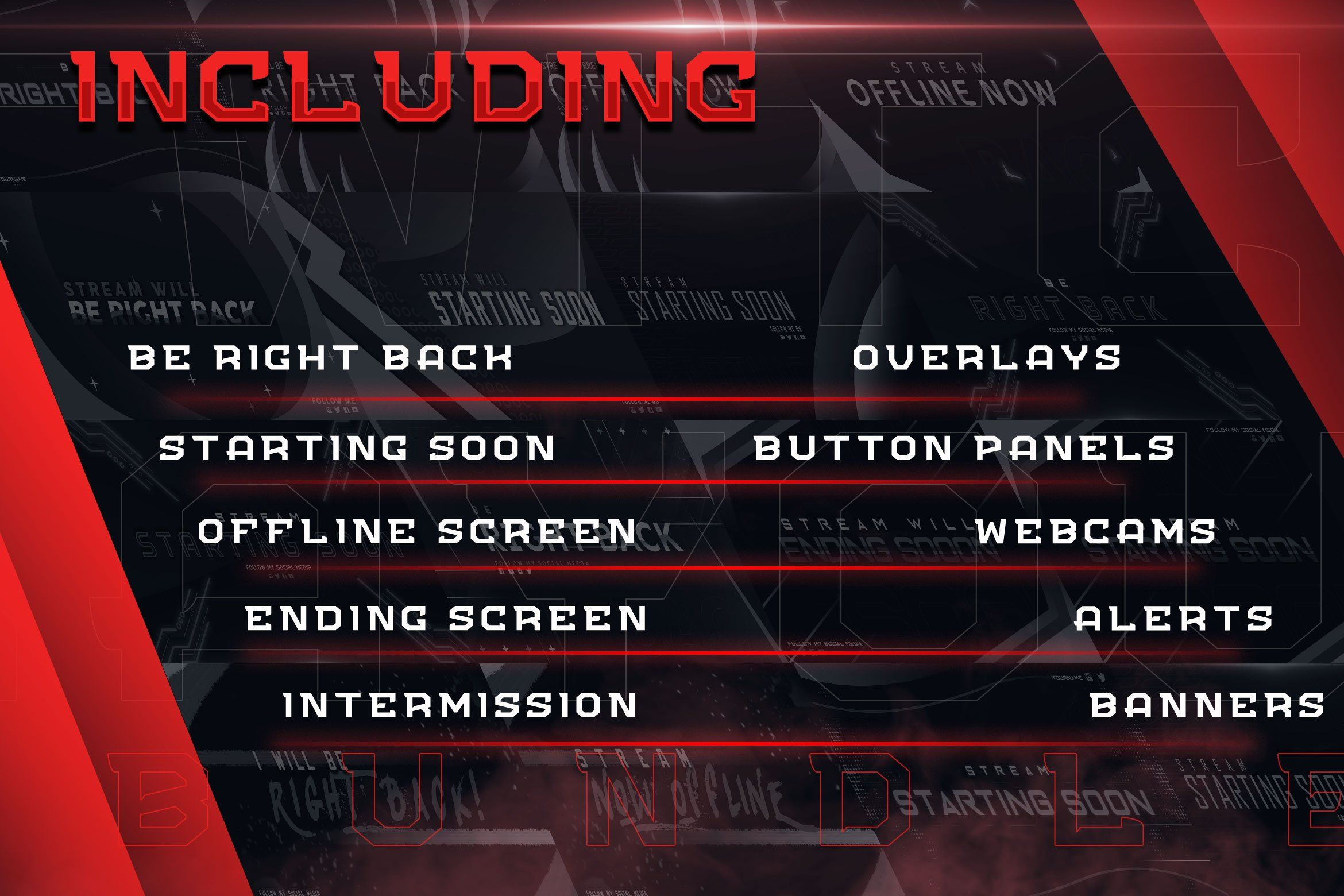 Twitch Layout Creator Bundle in 2020 Layout template
