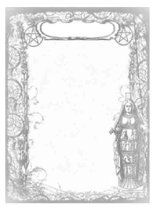 goddess frame blank bos pages book of shadows wicca