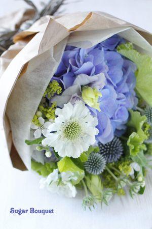 Hydrangea Bouquet Brautstrausse Blaue Hortensien November Hochzeit