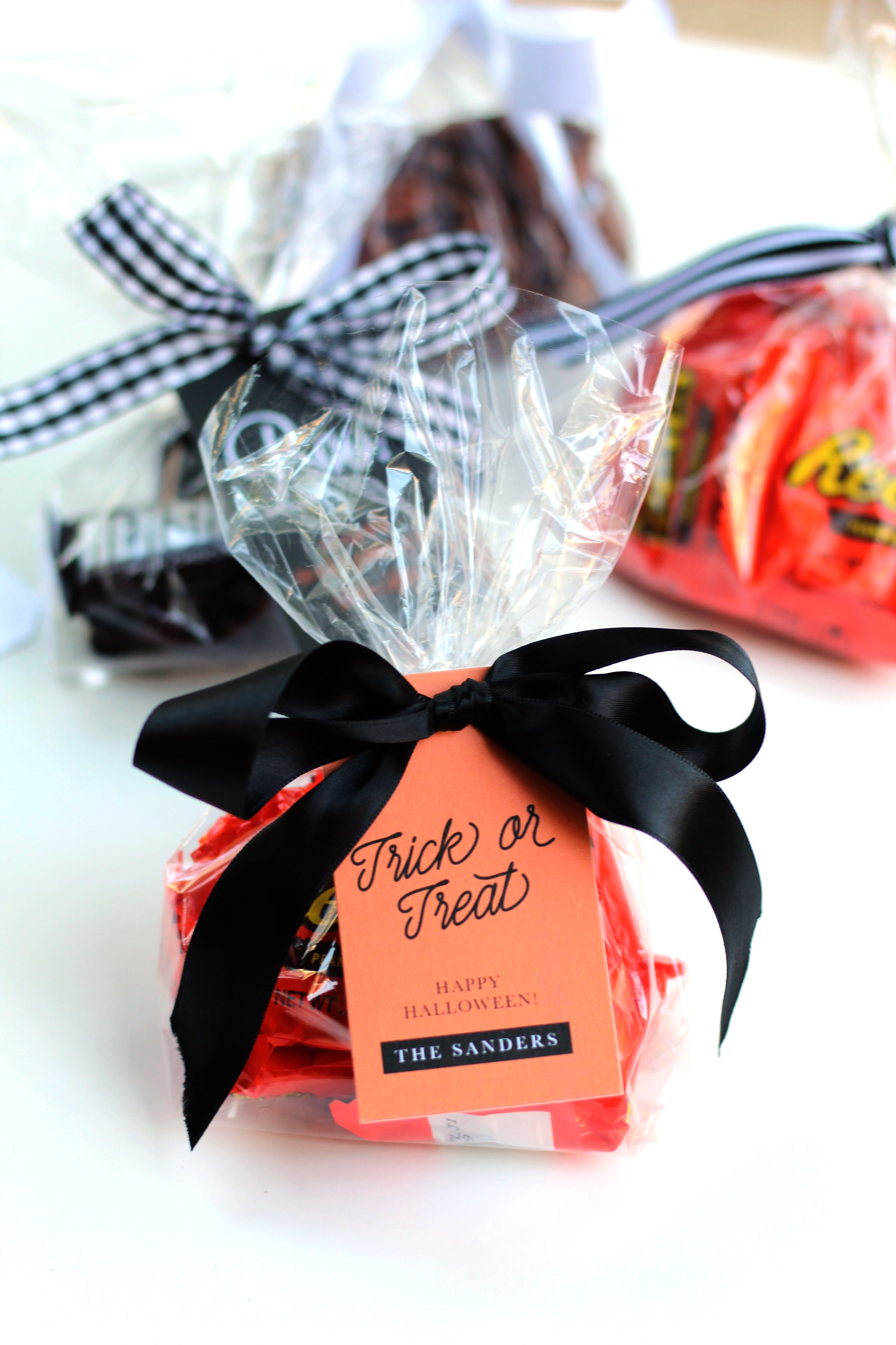 Halloween Gift Tags Personalized Halloween Treat Bags School Party