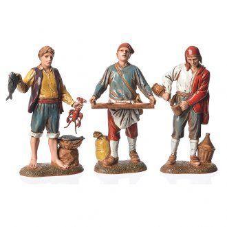 324dbb2ca51 Personajes estilo Napolitano 12 cm Moranduzzo 3 figuras