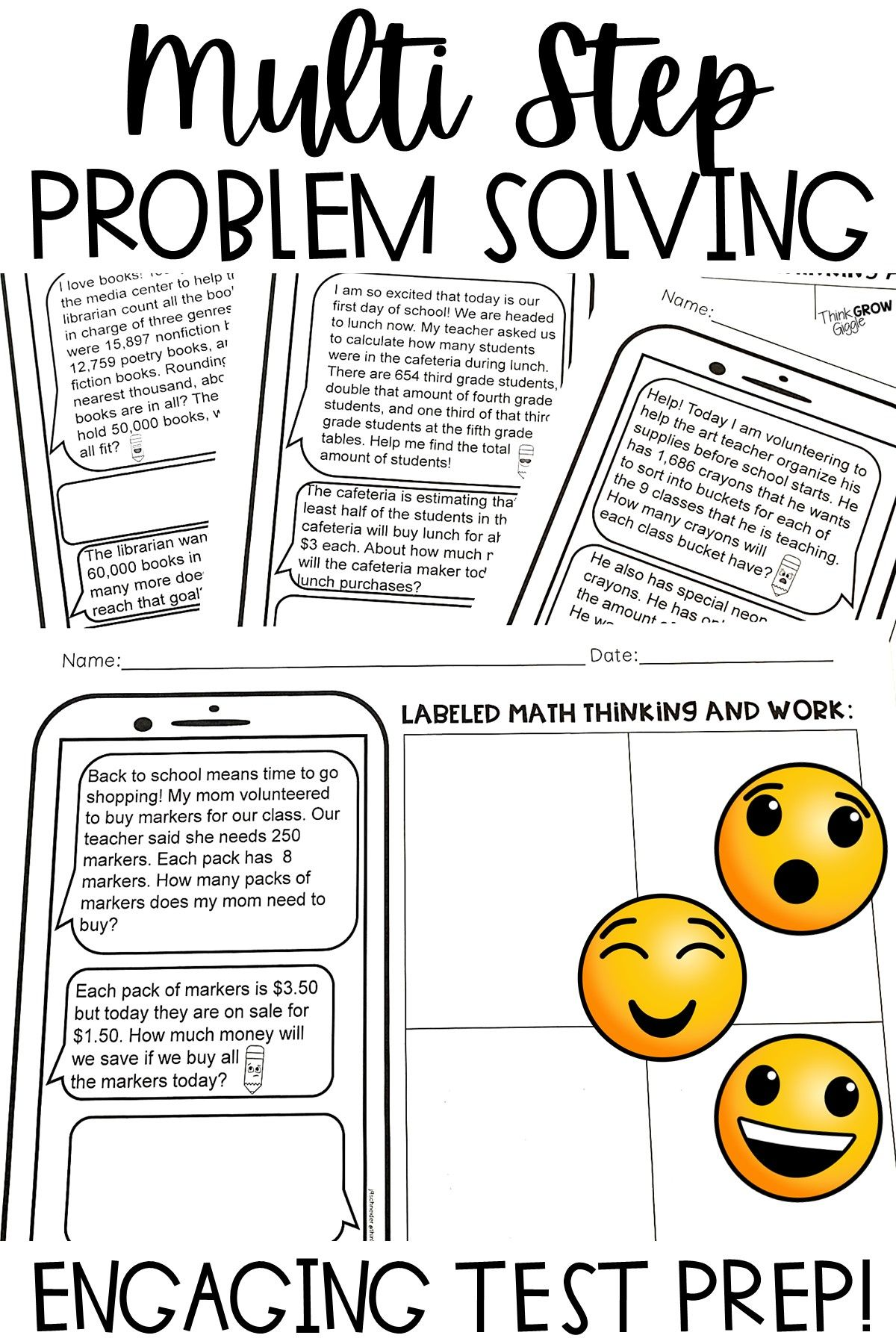 Math Multi Step Word Problem Review 4th And 5th Grade In