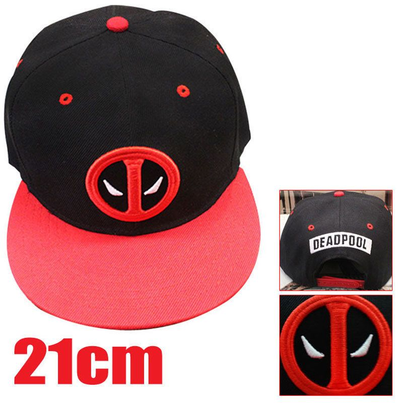 f98d2258cd430 2016 New Fashion Deadpool Hip Hop Snapback Summer Cap Hat Baseball Cap