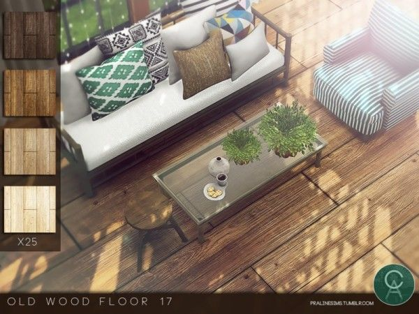 The Sims Resource Old Wood Floor 17 by Pralinesims  Sims 4 Downloads  cc sims 4  Sims Sims