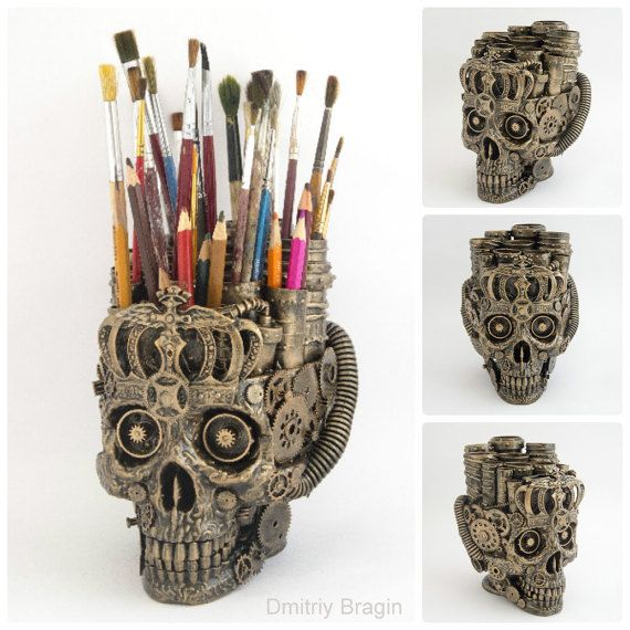 Plastic Masks To Decorate Amazing Skull Organizer Made From The Different Parts And Recyclable Decorating Design