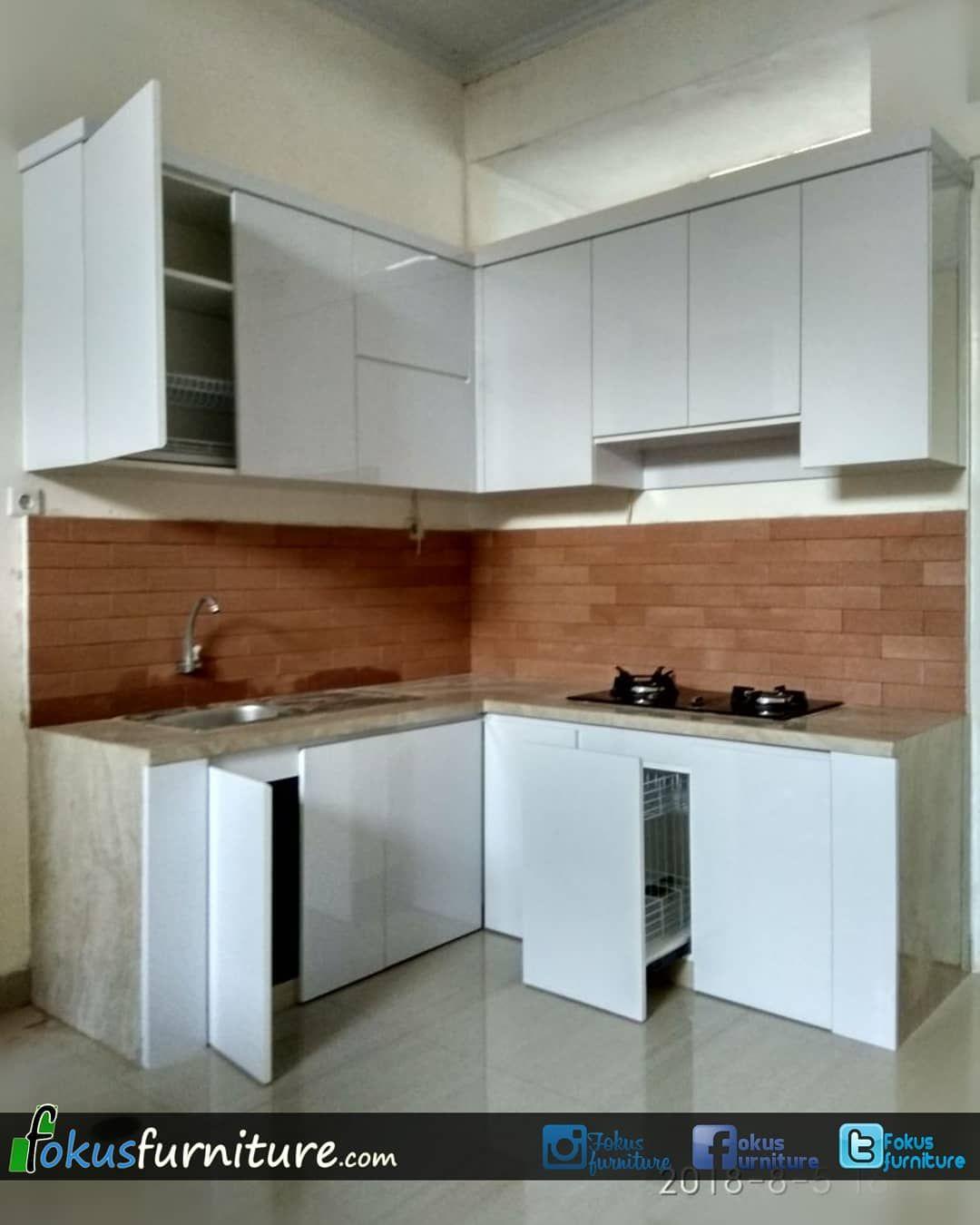 🔵kitchen set lemari dll🔵 di instagram kitchen set letter l dago serpong model model furniture minimalis by fokusfurniture com sedang mencari vendor