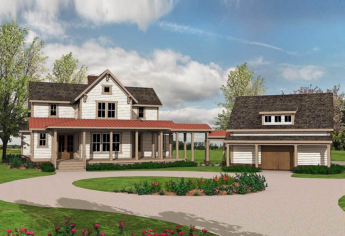24+ Farmhouse plans with detached garage most popular