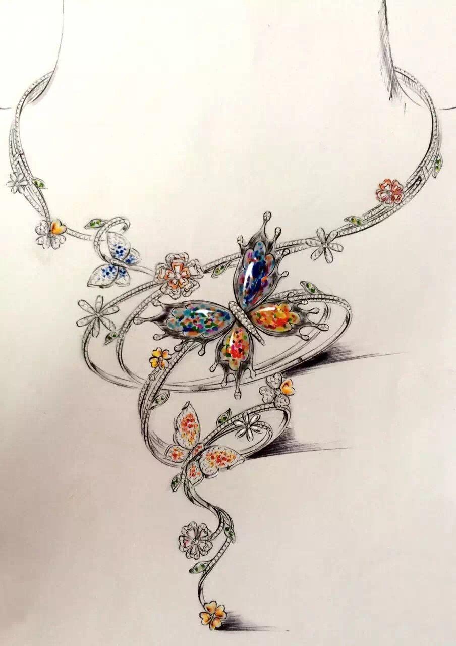 Collier création | Jewelry sketch | Pinterest | Jewellery ...