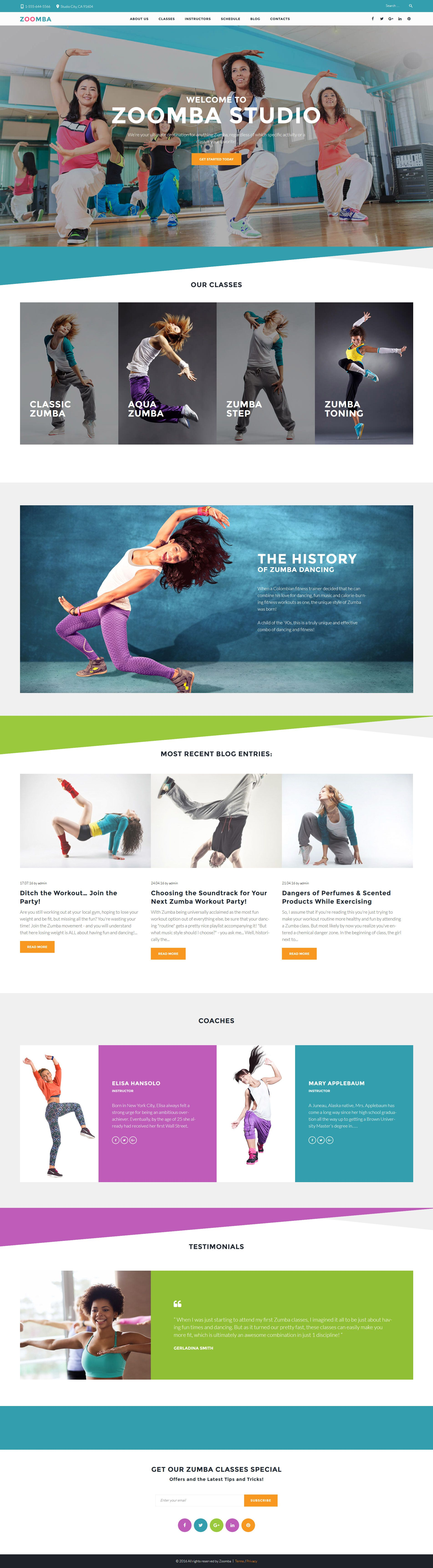 Dance Website Templates