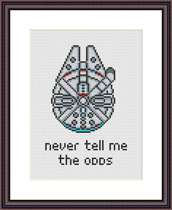 Millennium Falcon Star Wars Funny Cross Stitch PDF Pattern Never ...