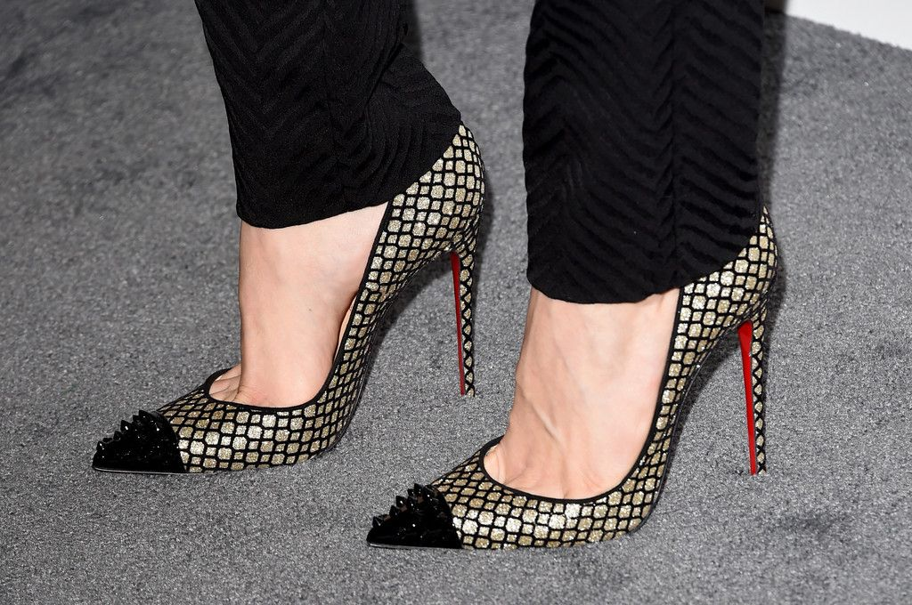 Actress Emmy Rossum (shoe detail) attends ELLE's 21st Annual Women in Hollywood Celebration at the Four Seasons Hotel on October 20, 2014 in Beverly Hills, California.