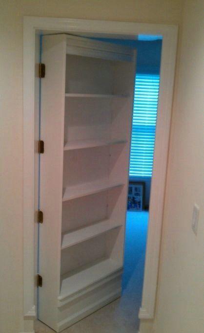Diy Secret Bookshelf Door Bookshelves Diy Hidden Bookshelf Door Hidden Rooms