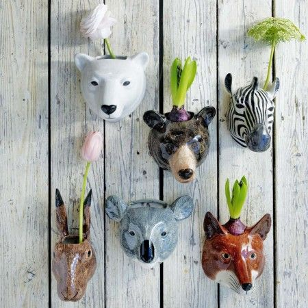 Photo of Ceramic Animal Wall Vases