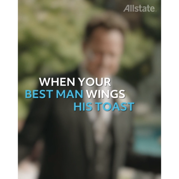 Allstate can't protect you from this kind of wedding toast. #WeddingsAreMayhem