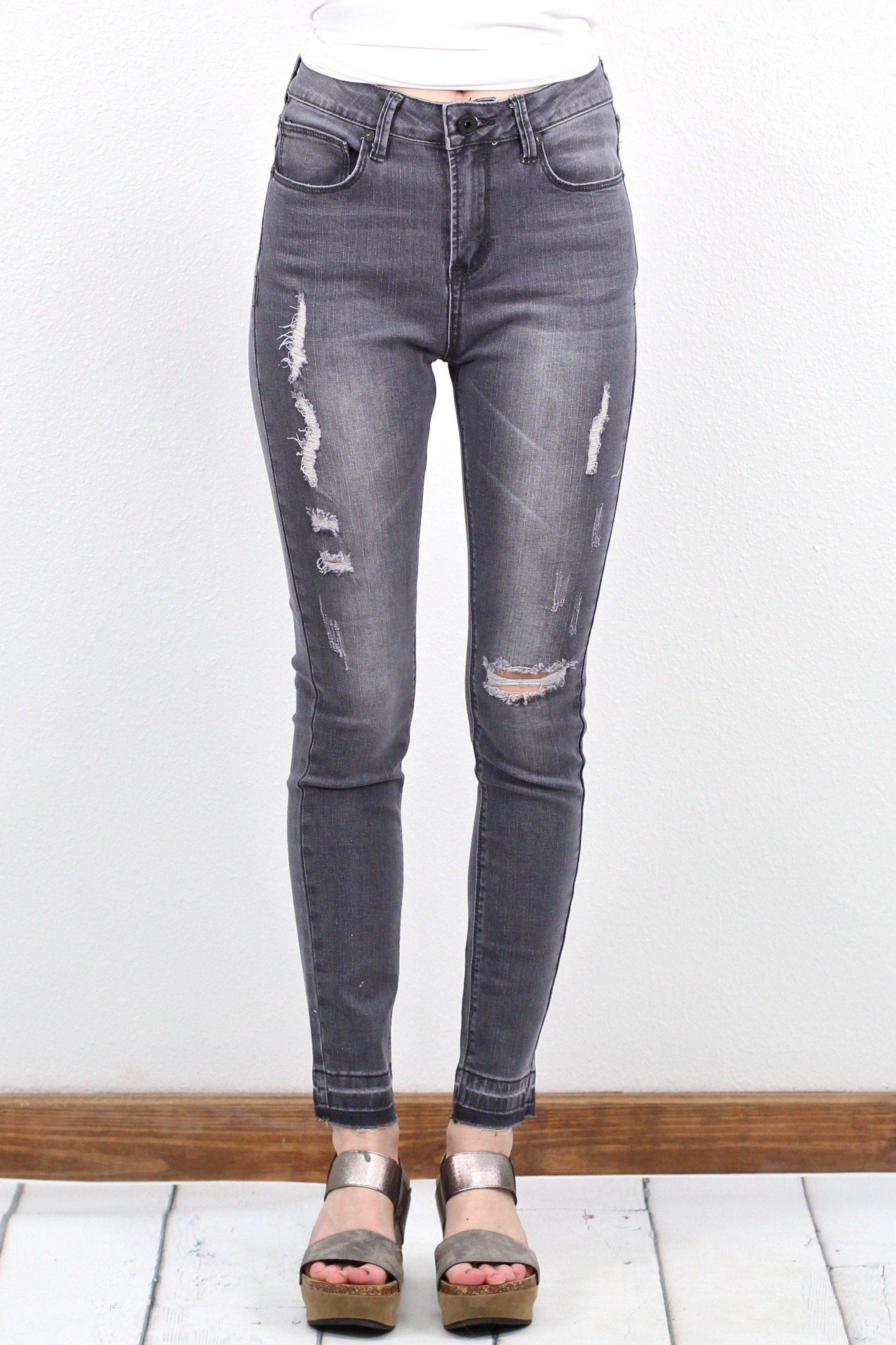 f87784d4805d Super soft and stretchy skinny jeans with a raw