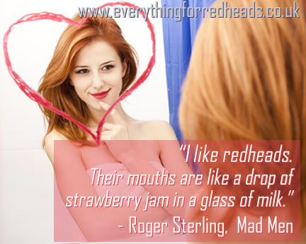 Think, do men like redheads know