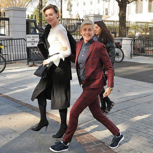 Portia De Rossi Wedding Gown: Ellen DeGeneres And Her Wife Portia De Rossi On Their Way