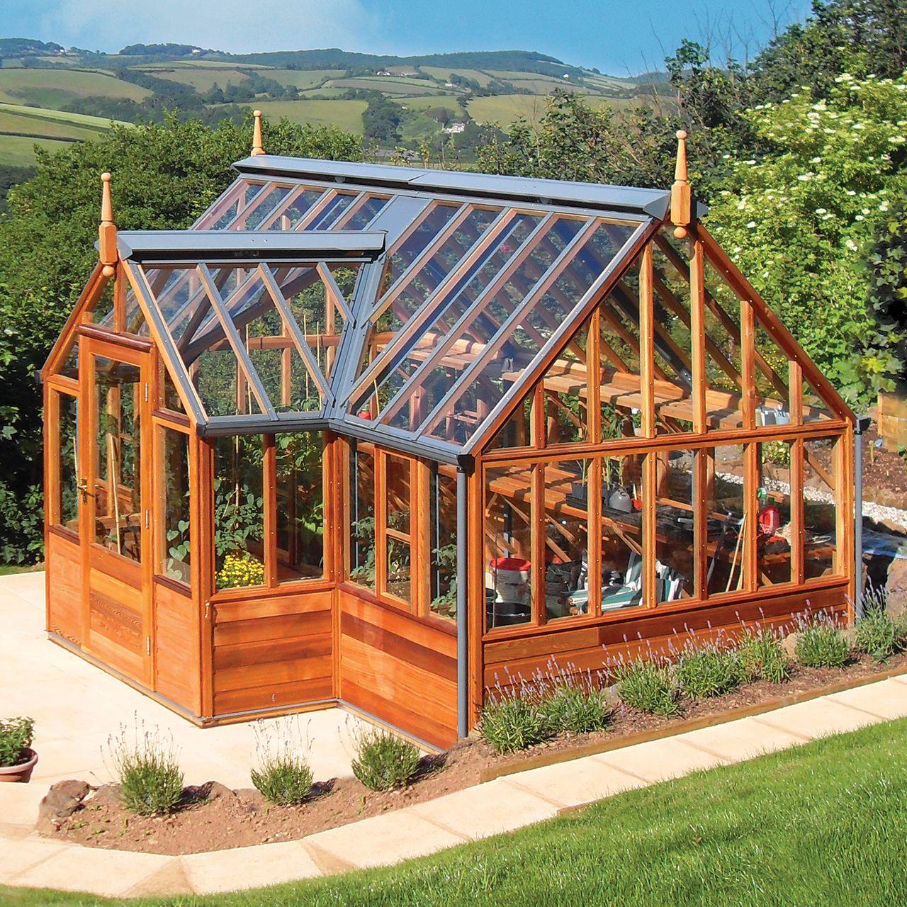 Gabriel Ash Portico Series Greenhouse Backyard Greenhouse