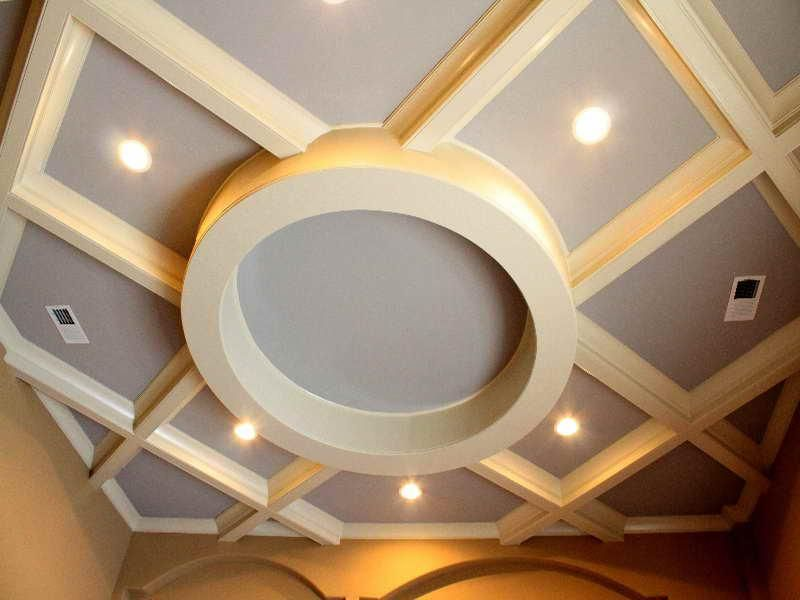 coffered ceiling kits are dwelling design components that ...