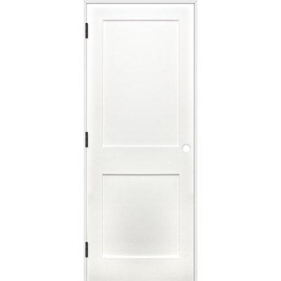 Creativeentryways Shaker 2 Panel Prime Solid Panelled Wood Prehung Interior Swinging Door Door Si Prehung Interior Doors Prehung Doors Doors Interior