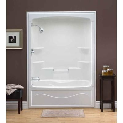 3 piece tub shower combo. One piece shower insert  Liberty 60 Inch Acrylic Tub and Shower Whirlpool Left Hand Mirolin 1 pc TS5L