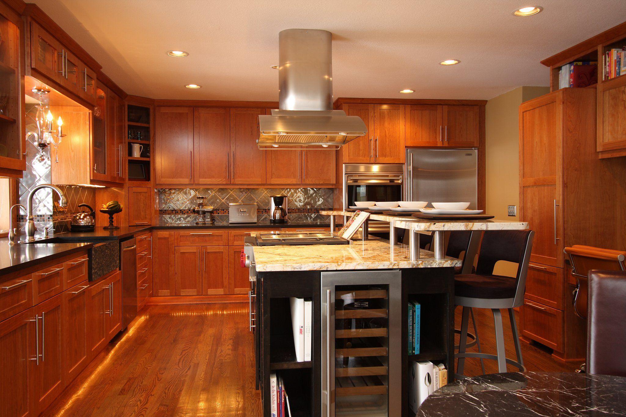 Furniture Semi Custom Kitchen Cabinets With L Shaped Wood Kitchen