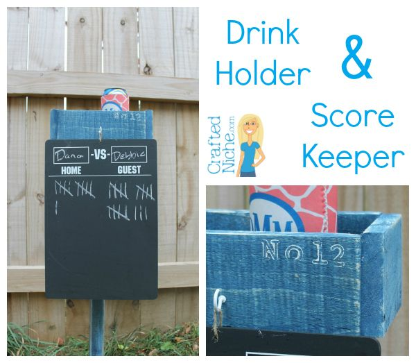 How To Make Your Own Drink Stake And Score Keeper For Yard Games And Tail